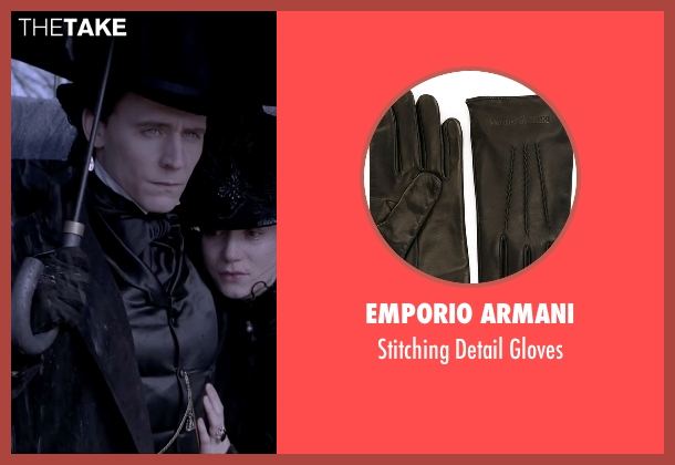 Emporio Armani black gloves from Crimson Peak seen with Tom Hiddleston (Sir Thomas Sharpe)