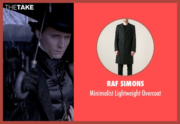 Raf Simons black overcoat from Crimson Peak seen with Tom Hiddleston (Sir Thomas Sharpe)