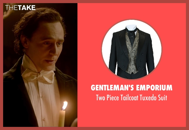 Gentleman's Emporium black suit from Crimson Peak seen with Tom Hiddleston (Sir Thomas Sharpe)