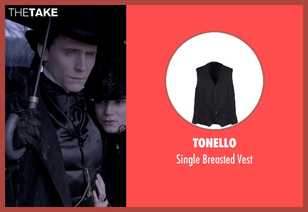 Tonello black vest from Crimson Peak seen with Tom Hiddleston (Sir Thomas Sharpe)