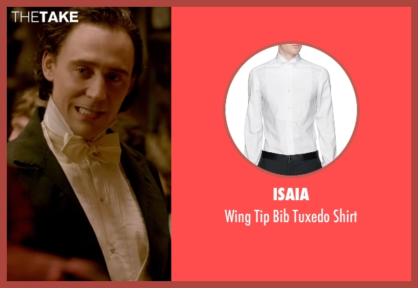 Isaia white shirt from Crimson Peak seen with Tom Hiddleston (Sir Thomas Sharpe)
