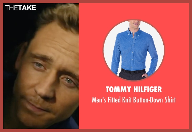 Tommy Hilfiger blue shirt from Kong: Skull Island seen with Tom Hiddleston (Captain James Conrad)
