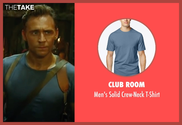 Club Room blue t-shirt from Kong: Skull Island seen with Tom Hiddleston (Captain James Conrad)