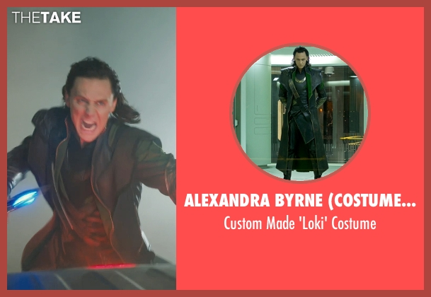 Alexandra Byrne (Costume Designer) costume from Marvel's The Avengers seen with Tom Hiddleston (Loki)