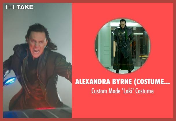 Alexandra Byrne (Costume Designer) costume from Marvel's The Avengers seen with Tom Hiddleston (Loki)