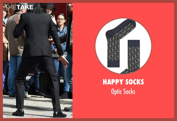 Happy Socks black socks from Thor: Ragnarok seen with Tom Hiddleston (Loki)