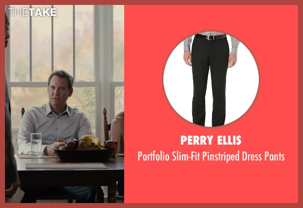 Perry Ellis black pants from Paper Towns seen with Tom Hillmann (Mr. Spiegelman)