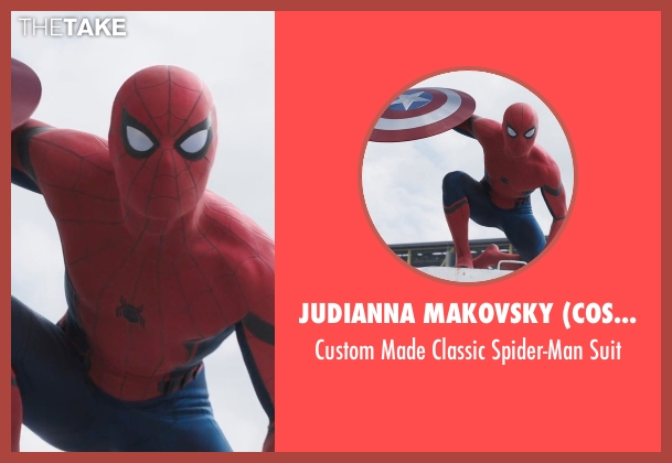 Judianna Makovsky (Costume Designer)  suit from Captain America: Civil War seen with Tom Holland (Peter Parker / Spider-Man)