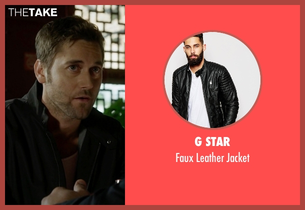 G Star black jacket from The Blacklist seen with Tom Keen (Ryan Eggold)