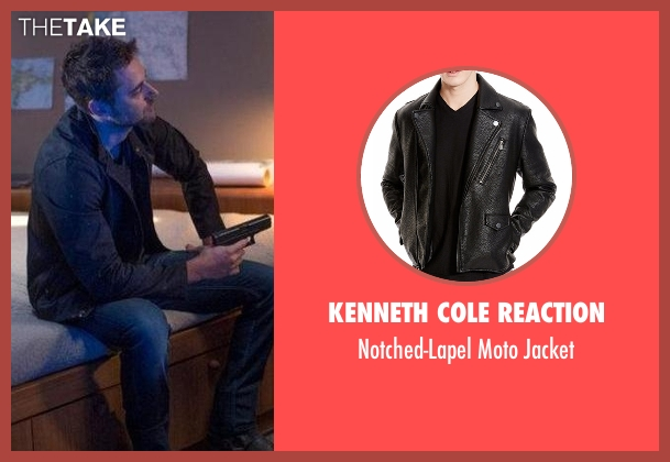 Kenneth Cole Reaction black jacket from The Blacklist seen with Tom Keen (Ryan Eggold)