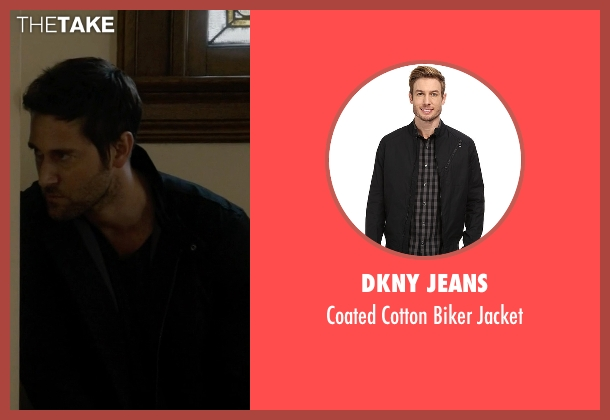 DKNY Jeans black jacket from The Blacklist seen with Tom Keen (Ryan Eggold)