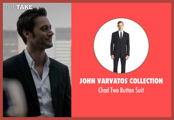 John Varvatos Collection black suit from The Blacklist seen with Tom Keen (Ryan Eggold)