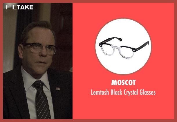 Moscot black glasses from Designated Survivor seen with Tom Kirkman (Kiefer Sutherland)