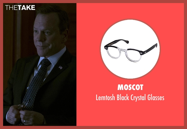 Moscot black glasses from Designated Survivor seen with Tom Kirkman (Kiefer Sutherland)