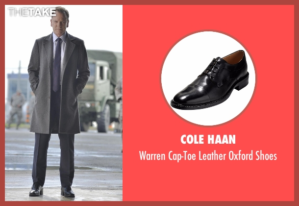 Cole Haan black shoes from Designated Survivor seen with Tom Kirkman (Kiefer Sutherland)
