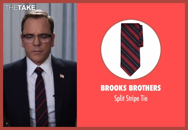 Brooks Brothers black tie from Designated Survivor seen with Tom Kirkman (Kiefer Sutherland)