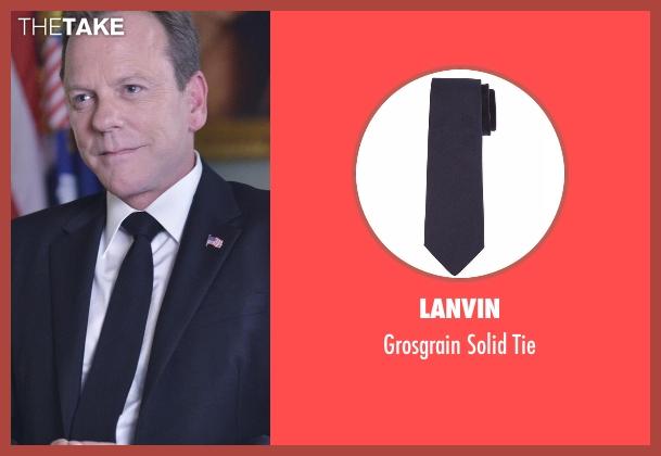 Lanvin  black tie from Designated Survivor seen with Tom Kirkman (Kiefer Sutherland)