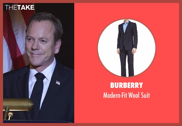 Burberry blue suit from Designated Survivor seen with Tom Kirkman (Kiefer Sutherland)