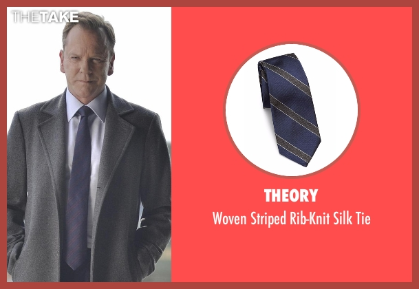 Theory blue tie from Designated Survivor seen with Tom Kirkman (Kiefer Sutherland)
