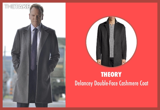 Theory gray coat from Designated Survivor seen with Tom Kirkman (Kiefer Sutherland)