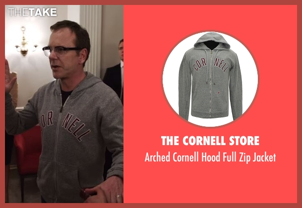 The Cornell Store gray jacket from Designated Survivor seen with Tom Kirkman (Kiefer Sutherland)