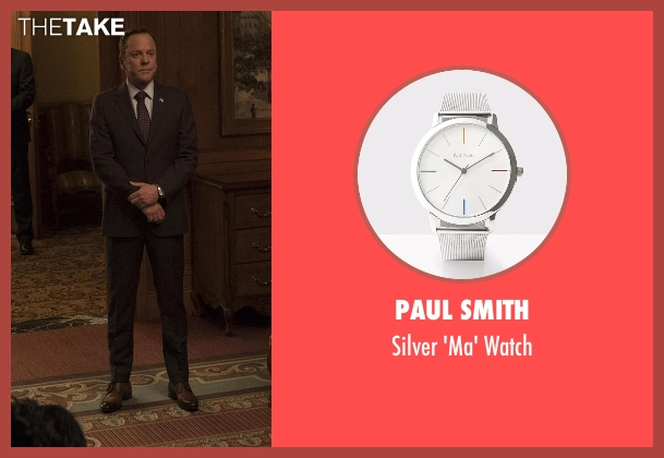 Paul Smith silver watch from Designated Survivor seen with Tom Kirkman (Kiefer Sutherland)