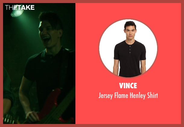 Vince black shirt from If I Stay seen with Tom Vanderkam (Willamette Stone Band)
