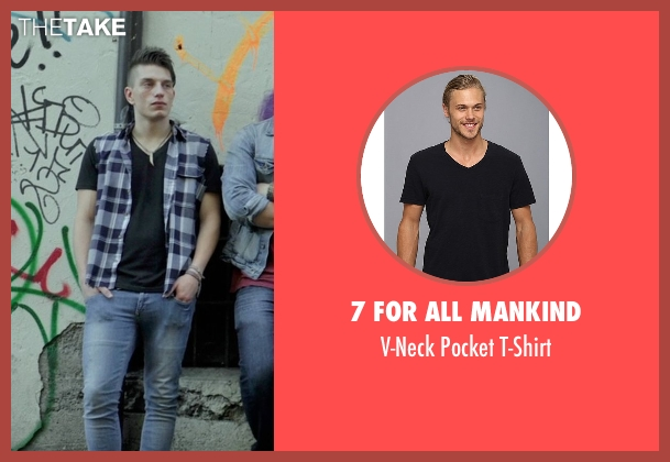 7 For All Mankind black t-shirt from If I Stay seen with Tom Vanderkam (Willamette Stone Band)
