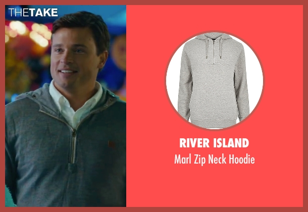 River Island gray hoodie from The Choice seen with Tom Welling (Dr. Ryan McCarthy)