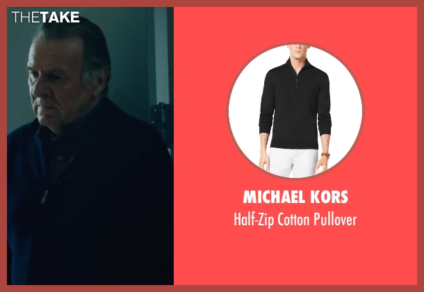 Michael Kors black pullover from The Choice seen with Tom Wilkinson (Dr. Shep)