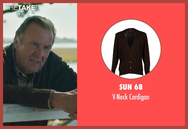 Sun 68 brown cardigan from The Choice seen with Tom Wilkinson (Dr. Shep)