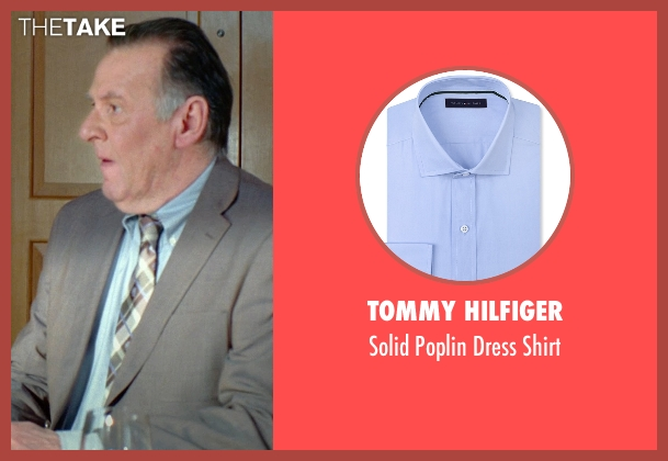 Tommy Hilfiger blue shirt from Unfinished Business seen with Tom Wilkinson (Timothy McWinters)