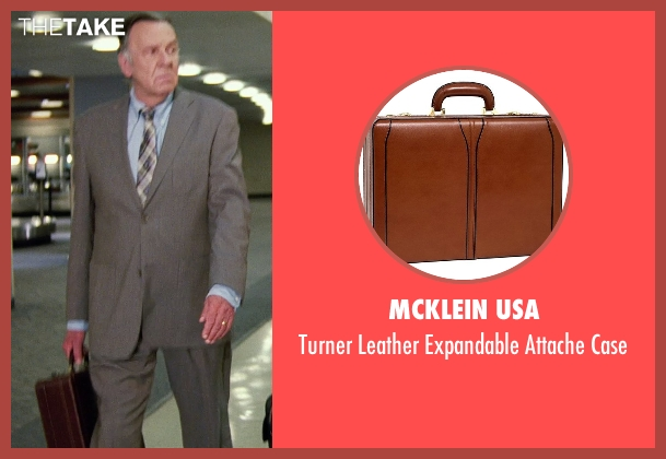 McKlein USA brown case from Unfinished Business seen with Tom Wilkinson (Timothy McWinters)