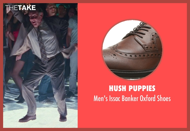 Hush Puppies brown shoes from Unfinished Business seen with Tom Wilkinson (Timothy McWinters)