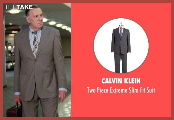 Calvin Klein gray suit from Unfinished Business seen with Tom Wilkinson (Timothy McWinters)