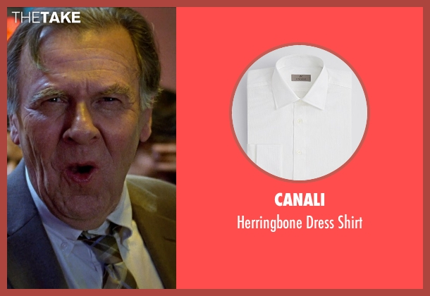 Canali white shirt from Unfinished Business seen with Tom Wilkinson (Timothy McWinters)
