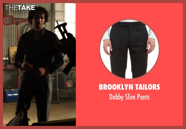 Brooklyn Tailors black pants from We're the Millers seen with Tomer Sisley (Pablo Chacon)