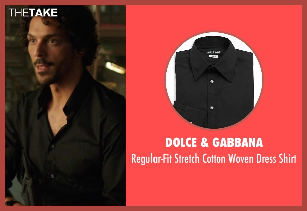 Dolce & Gabbana black shirt from We're the Millers seen with Tomer Sisley (Pablo Chacon)
