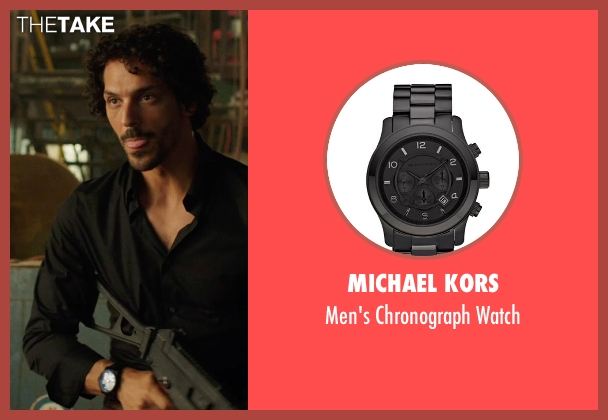 Michael Kors black watch from We're the Millers seen with Tomer Sisley (Pablo Chacon)