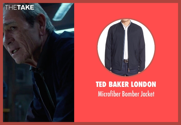 Ted Baker London blue jacket from Criminal seen with Tommy Lee Jones (Unknown Character)