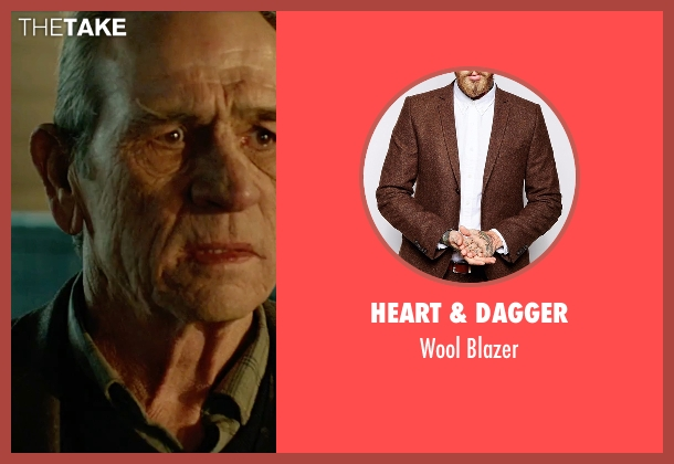 Heart & Dagger brown blazer from Criminal seen with Tommy Lee Jones (Unknown Character)