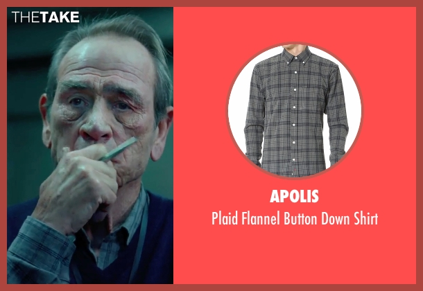 Apolis gray shirt from Criminal seen with Tommy Lee Jones (Unknown Character)