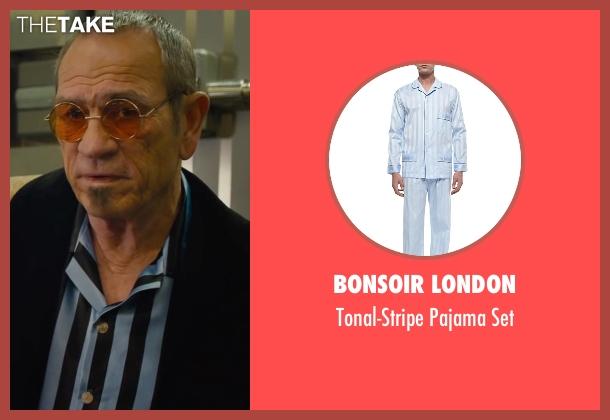 Bonsoir London blue set from Mechanic: Resurrection seen with Tommy Lee Jones (Max Adams)