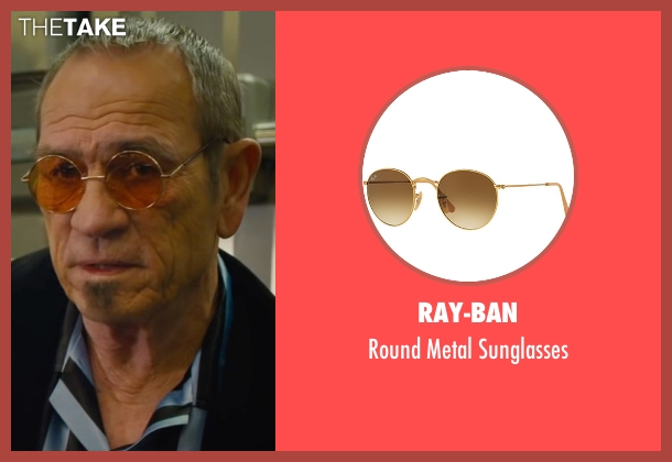 Ray-Ban sunglasses from Mechanic: Resurrection seen with Tommy Lee Jones (Max Adams)