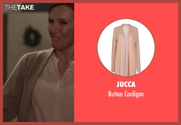 Jucca beige cardigan from Krampus seen with Toni Collette (Unknown Character)