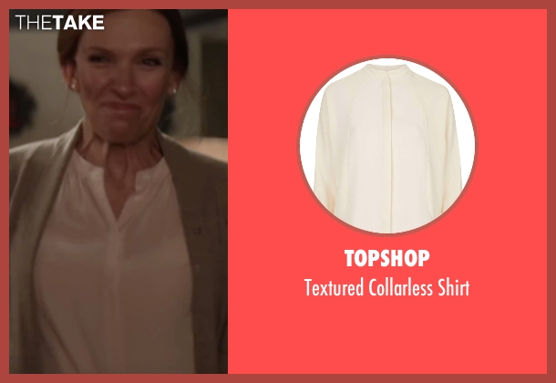 Topshop white shirt from Krampus seen with Toni Collette (Unknown Character)