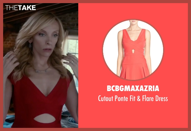 BCBGMAXAZRIA red dress from Miss You Already seen with Toni Collette (Milly)