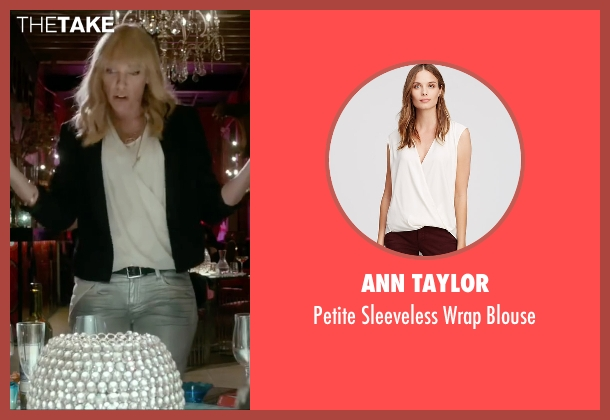 Ann Taylor white blouse from Miss You Already seen with Toni Collette (Milly)