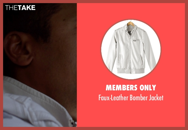 Members Only white jacket from Need for Speed seen with Tony Brakohiapa (The Gooch)