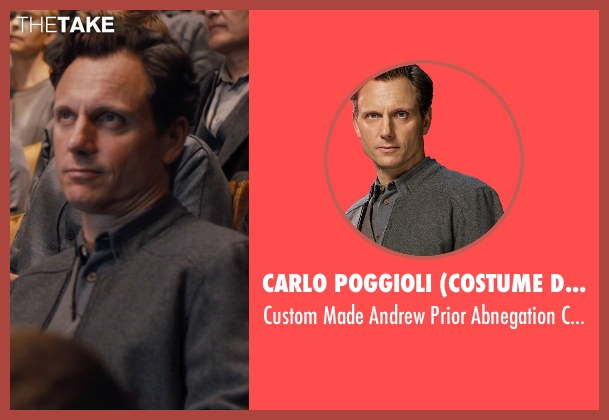 Carlo Poggioli (Costume Designer) gray coat from Divergent seen with Tony Goldwyn (Andrew Prior)